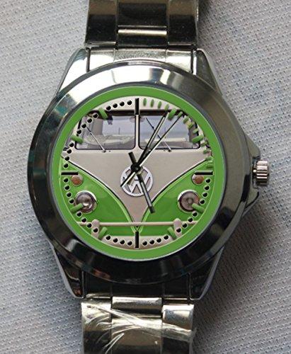 Vw Volkswagen Type 2 Kombi Green Custom Metal Sport Watch