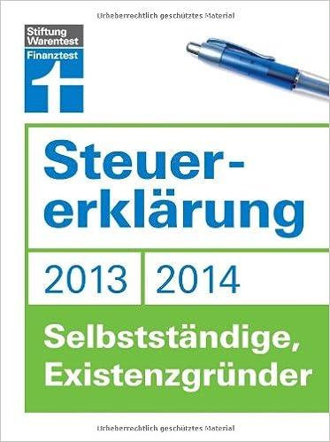 Cover des Buchs: Steuererklärung 2013/2014 - Selbstständige, Existenzgründer
