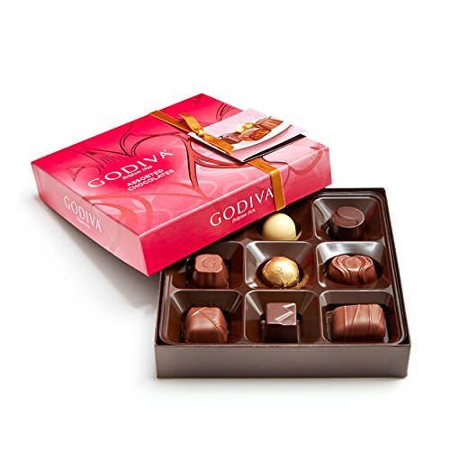 Godiva Chocolatier Assorted Chocolate Bliss 9 Piece Gift Box