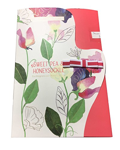 Heathcote Ivory NEW SWEET PEA Fragranced Drawer Liners in envelope style and display tray (5 sheets) by Heathcote Ivory