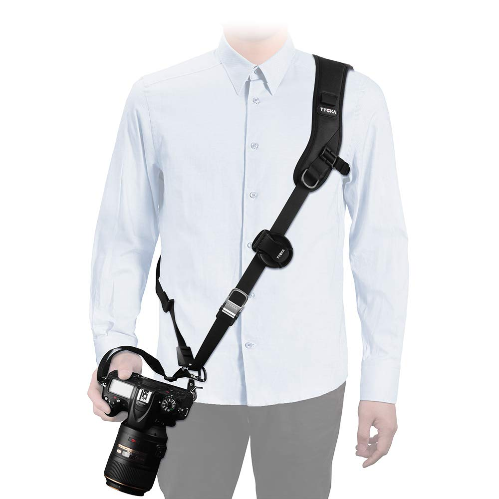 Tycka Camera Shoulder Neck Strap, Top-Level Protection to Camera, Good for Wedding Shoot, Activity, Wildlife or Journey; Anti-Slip and Durable, Equipped with Quick Release Plate and Safety Tether …