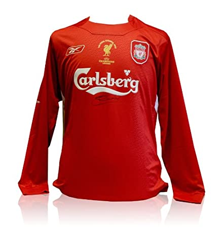 9944c3321ad Steven Gerrard signed Liverpool Shirt - The Final Istanbul 2005   Amazon.co.uk  Kitchen   Home