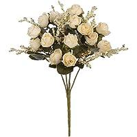NIDONE Heminredning och konstgjorda blommor 15 huvud Simulering Rosor Bouquet Fake Silk Flower Decoration för Home…
