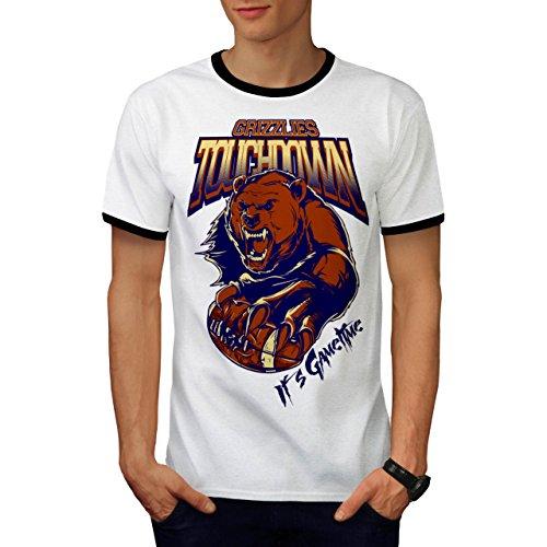 Grizzly Bear Sports Game Time Men S Ringer T-shirt   Wellcoda - Sled Hockey Sticks