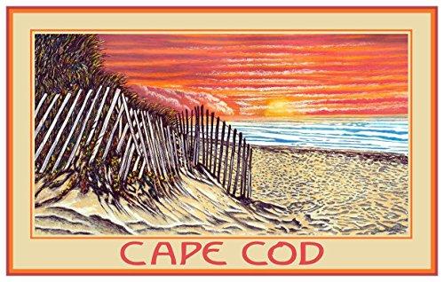 Cape Cod Sand Dune Sunrise Travel Art Print Poster by David Linton (12
