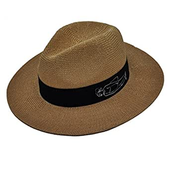 Panama Straw Sun Hats for Women ( Coffee Color ), Lady's Summer Straw Hat for Sun Protection Miss Girl