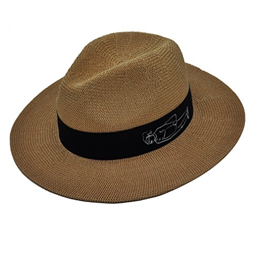 Panama Sun Hats for Women ( Coffee ), Fashion Gift for Lady by Miss (Fedora Hat Ladies)