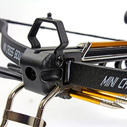KingsArchery Crossbow Pistol with Bolt Rack Self-Cocking 80
