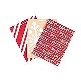 Hallmark Medium Holiday Gift Bags (Stripes, Snowflake, Merry, 3 Pack)