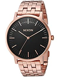 Nixon Men's 'Porter' Quartz Metal and Stainless Steel Automatic Watch, Color:Rose Gold-Toned (Model: A10571932-00)