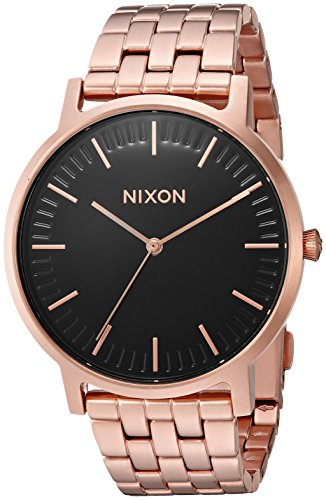 Nixon Men's 'Porter' Quartz Metal and Stainless Steel Watch, Color:Rose Gold-Toned (Model: