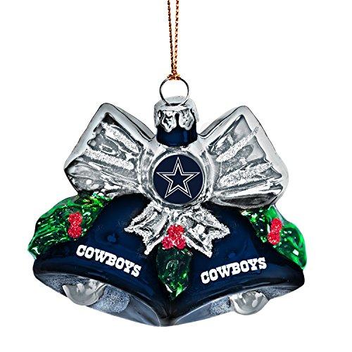 NFL Dallas Cowboys Glitter Bells Ornament