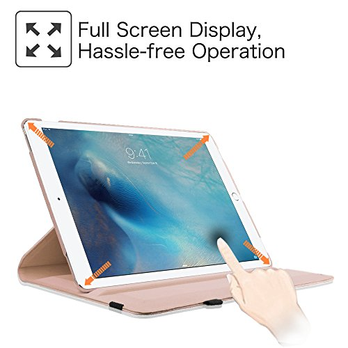 Fintie iPad Pro 12.9 Case - 360 Degree Rotating Stand Case with Smart Cover Auto Sleep / Wake Feature for Apple 12.9-inch iPad Pro (2015 Version), Rose Gold Photo #7