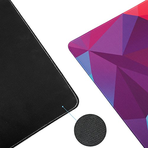 Large Extended Gaming Mouse Pad Gaming Keyboard Pad Laptop Mat Desk Mat Computer Game Mouse Mat Resistant Non-Slip Durable Stitched Edges (31.5×15.75×0.12 inch,Colorful)