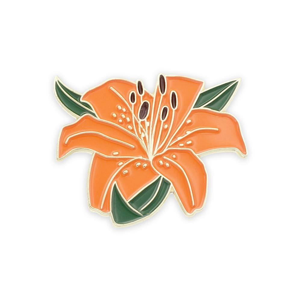 Tiger Lily Flower Enamel Lapel Pin Forge Tigerlilyflower1