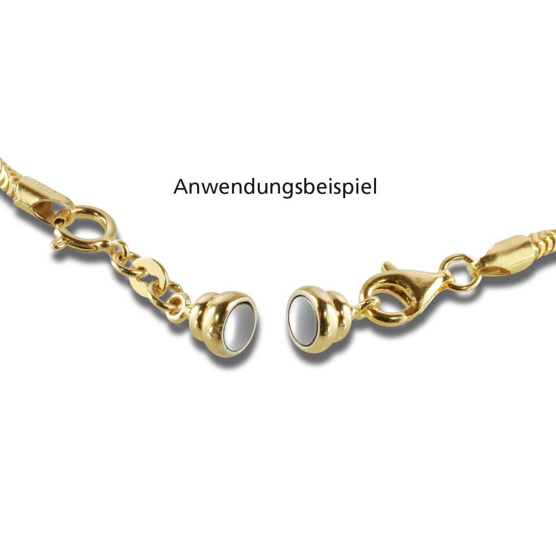 2er Magnetschlie/ßen Set hochglanzpoliert 925// Sterlingsilber rhodiniert//gelbvergoldet BoB C