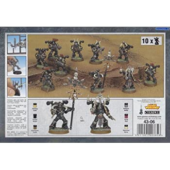 Miniature Warhammer 40k Chaos Space Marine Squad - 10 Count