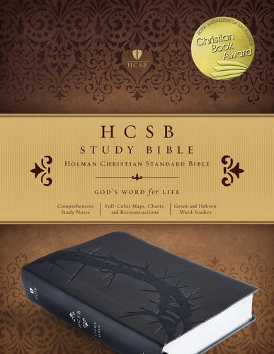 HCSB Large Print Study Bible, Mahogany LeatherTouch ...