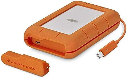 LaCie HDD ポータブルハードディスク 2TB Rugged Thunderbolt USBタイプC 2FDAP5