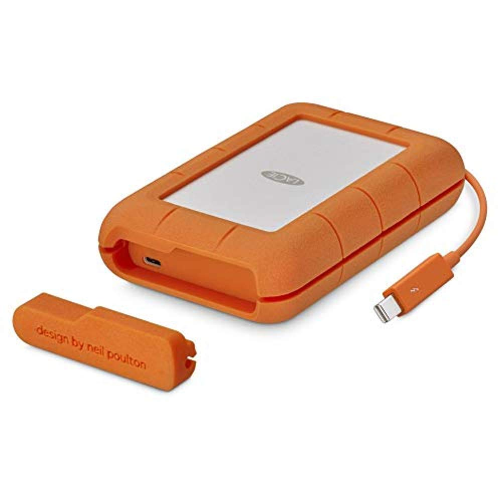2TB LaCie Rugged Thunderbolt USB-C External SSD - Orange STFS2000800