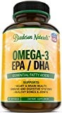 tuna omega 3 fish oil - Omega-3 EPA, DHA Fish Oil Natural Dietary Supplement – 60 softgels – Essential Fatty Acids: 2000mg Omega 3 Fish Oil, 360mg EPA, 240mg DHA, Vitamin E – No Fishy Burps, Aftertaste - by Bradeson Naturals