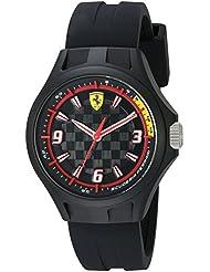 Ferrari Mens 0830278 Pit Crew Analog Display Japanese Quartz Black Watch