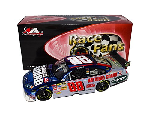 AUTOGRAPHED 2008 Dale Earnhardt Jr. #88 National Guard (First Year with Hendrick Motorsports) MESMA & COLOR CHROME Race Fans Only Signed Motorsports Authentics 1/24 NASCAR Diecast Car with COA Dale Earnhardt Jr Guard
