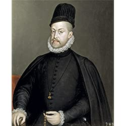 'Anguissola Sofonisba Felipe II Ca. 1564 ' Oil Painting, 24 X 30 Inch / 61 X 75 Cm ,printed On Polyster Canvas ,this Reproductions Art Decorative Canvas Prints Is Perfectly Suitalbe For Home Office Gallery Art And Home Decoration And Gifts