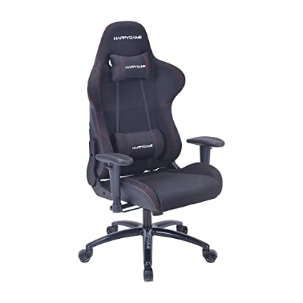HAPPYGAME Multifunctional Computer Gaming Chair Designed for pro Gaming and Office Backrest, Pillows Recliner, Swivel Rocket Tilt and Seat Height ...