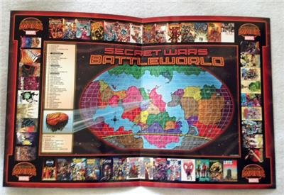 Marvel Secret Wars Battleworld Map Original Promo Poster Sdcc 2015 Comic Con