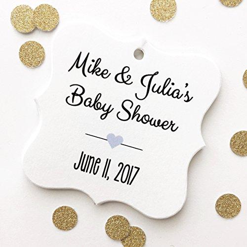 Couples Baby Shower Favor Hang - Matte Jordans Green