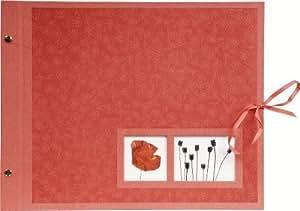Exacompta 60017E Album fotos con tornillos recargables 40 paginas Crea - 37x29cm Rojo