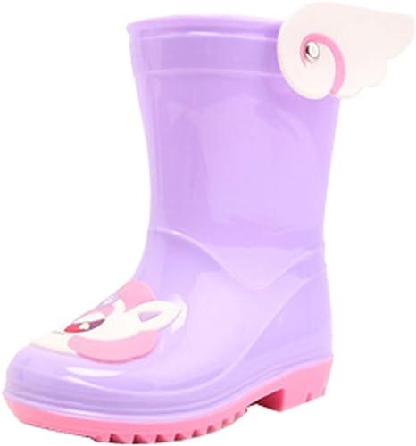 Cute Starry Kids' Rain Boots Purple