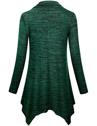 6942abd91f6d0 Cestyle Womens Long Sleeve Cowl Neck Asymmetrical Hemline Flowy Tunic Top