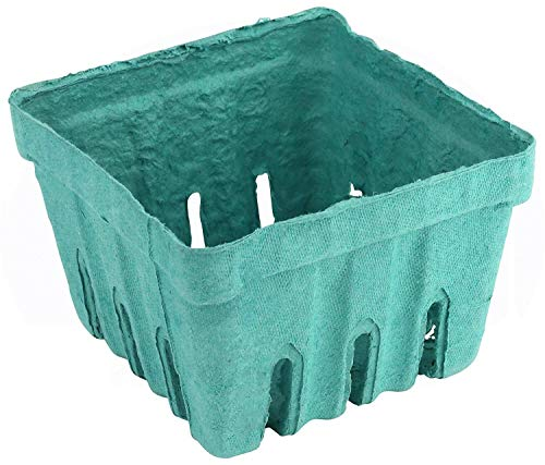 Vented Pulp Berry Baskets Bulk - 1 Pint Berry Basket - Produce Baskets - Pulp Berry Box - Bulk Baskets for Strawberry/Blueberry/Cherry/Blackberry - Farmers Market Basket (20 PCS)