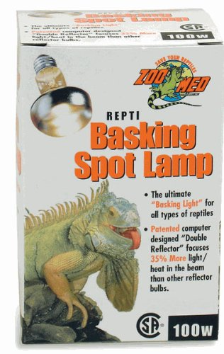 - Zoo Med Repti Basking Spot Lamp 100watt for Reptiles