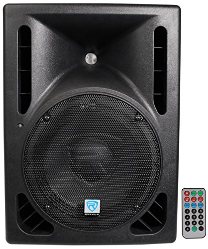 "Rockville RPG10BT 10"" Powered 600W DJ PA Speaker BlueTooth,"