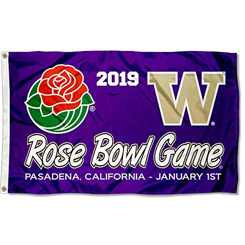 (College Flags and Banners Co. Washington Huskies 2019 Rose Bowl Game Flag)