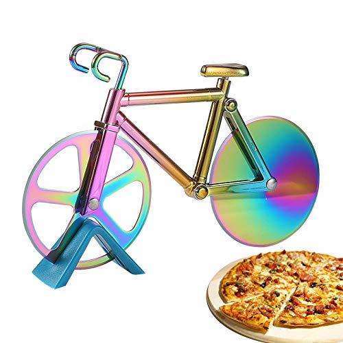 Fiets Pizzasnijder Van Roestvrij Staal Pizzasnijder Met Antiaanbaklaag Pizzasnijder Fiets Bicycle Pizza Cutter Pizza…