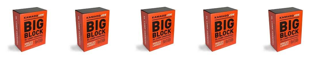 KamadoJoe 20 Pound Big Block Natural Lump Hardwood Charcoal Box (5-(Pack))
