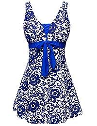 Wantdo Women's One-Piece Swimsuit Oriental Porcelain Slimming Swimdress