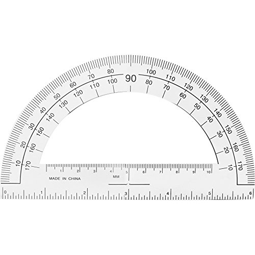 Sparco 01490 Plastic Protractor, 6'' Ruler Base, Clear by Sparco