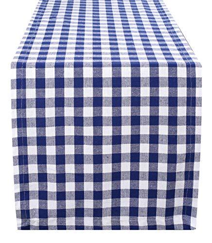 Cotton Gingham Check Plaid Table Runner for Family