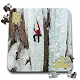 Danita Delimont - Sport - Ice climber ascending at Ouray Ice Park, Colorado - 10x10 Inch Puzzle (pzl_230418_2)