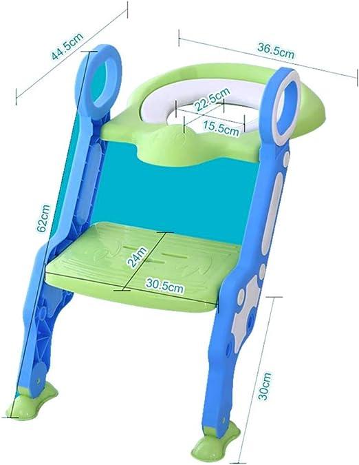 JUEYAN® Escalera Asiento Escalera del Tocador de Niños Reductor WC para Niños Asiento con Escalera Altura Ajustable para 1-7 niños: Amazon.es: Hogar