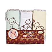 Teddy Bear Hooded Bath Towel Set, 3 Pack, Neutral, Frenchie Mini Couture