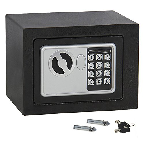 F2C Electronic Security Safe Box, Digital Lock for Gun Cash Jewelry Valuable Office Home Hotel with Two Keys (#1)