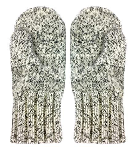 (Dachstein Woolwear 4 Ply Extreme Warm 100% Austrian Boiled Wool Alpine Mittens in Natural Grey)