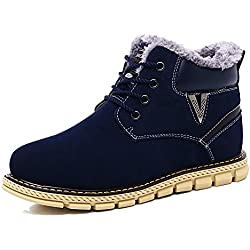 YZHYXS Men Boots Winter 0 Genuine Cow Leather Fashion Casual Shoes Snow Boots 80127