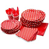 LolliZ Party Pack For 8, Red/Polka Dots Design